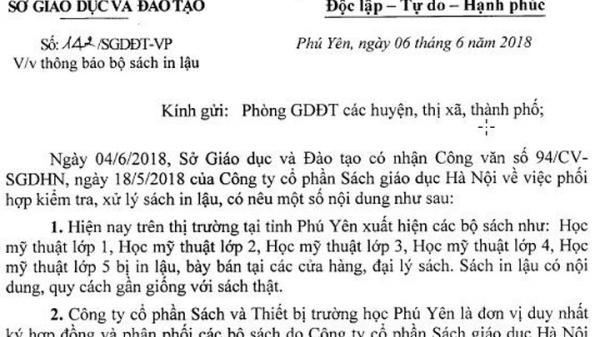 Phú Yên lưu ý trường học về sách in lậu