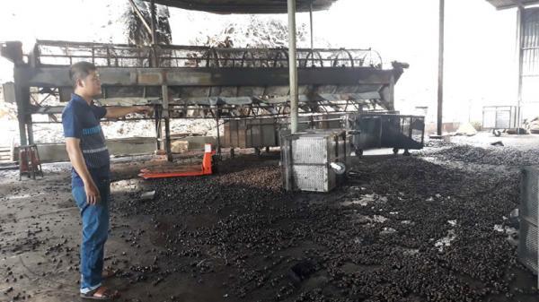 Phú Hòa: Cháy xưởng sản xuất hạt điều ở xã Hòa Quang Bắc