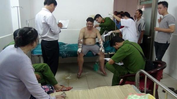 TP Tuy Hòa: Tấn công 'bom' xăng, 1 người bị bỏng nặng