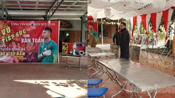 Gia đình thủ môn Văn Toản làm 60 mâm cỗ mời cả xã đến cổ vũ cho trận chung kết