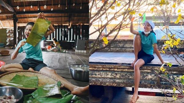 Khó tin trước bữa cơm và cách diện quần áo khi về quê nhà Đắk Lắk đón Tết của H'Hen Niê