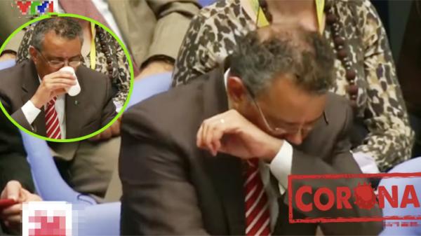 Đang phát biểu về đại dịch toàn cầu, Tổng giám đốc WHO bất ngờ ho sặc khiến cả khán phòng giật mình... nín thở