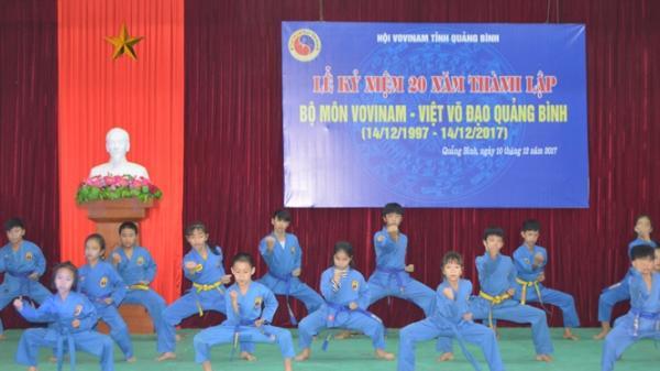 Vovinam – Việt võ đạo 20 năm phát triển tại Quảng Bình