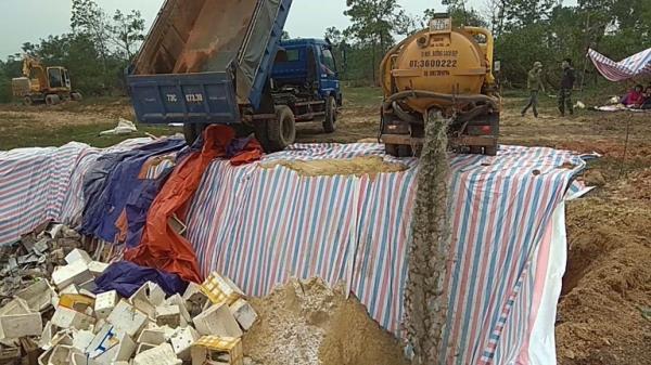 Quảng Bình: Tiêu hủy gần 73 tấn hải sản tồn kho không đảm bảo an toàn thực phẩm