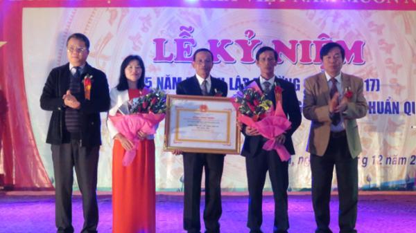 Trường THPT Trần Phú đón bằng công nhận trường trung học đạt chuẩn Quốc gia