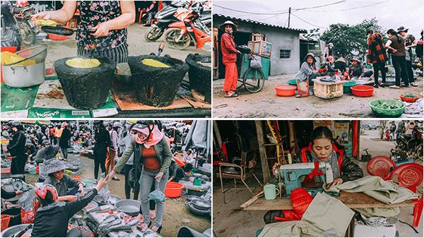 Những hình ảnh rất đời thường ở ngôi chợ quê thân thương này khiến bao người con Quảng Bình chợt nhớ về kí ức tuổi thơ