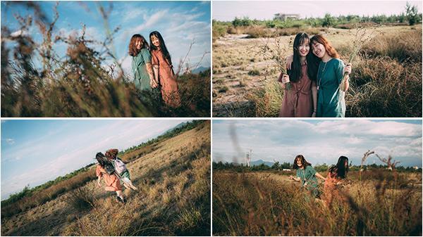 """Theo chân 2 cô nàng Đồng Hới xinh đẹp khám phá đồng cỏ rười - """"đặc sản"""" của vùng đất vùng gió Lào cát trắng"""