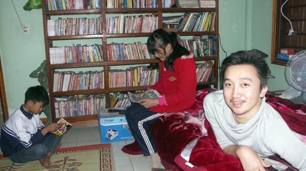 Thư viện sách của chàng trai khuyết tật Quảng Bình