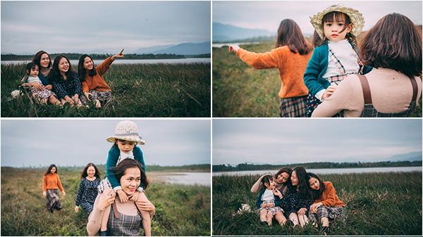 """Ngắm bộ ảnh sinh nhật siêu cưng của bé gái Quảng Bình cùng """"hội chị em"""" của mẹ"""