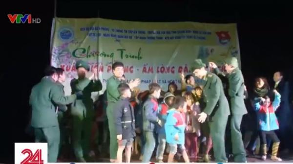 Quảng Bình: Bộ đội biên phòng tổ chức Tết cho người dân vùng biên giới