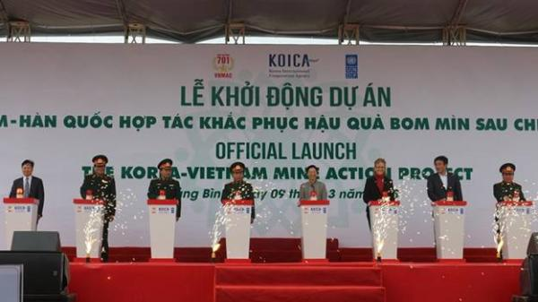 Khởi động Dự án Việt Nam - Hàn Quốc hợp tác khắc phục hậu quả bom mìn, vật liệu nổ sau chiến tranh tại Quảng Bình