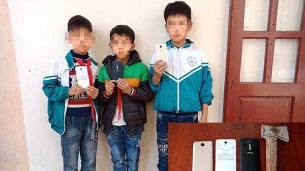 Quảng Bình: Nhóm trộm manh động phá tường lấy điện thoại chỉ là 3 đứa trẻ