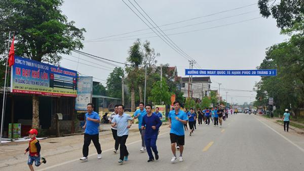 Tuyên Hóa hưởng ứng ngày chạy Olympic vì sức khỏe toàn dân
