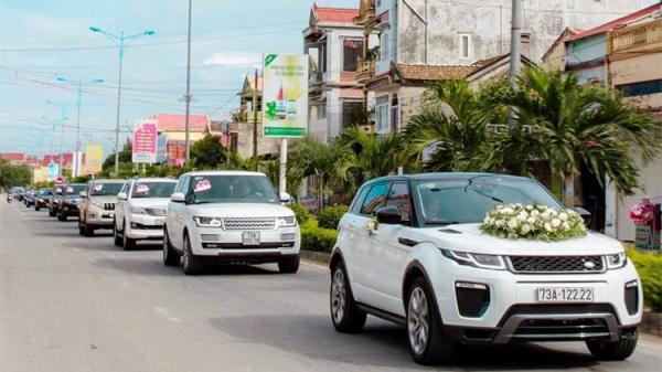 Xem dàn xe sang tiền tỷ rước dâu tại Quảng Bình