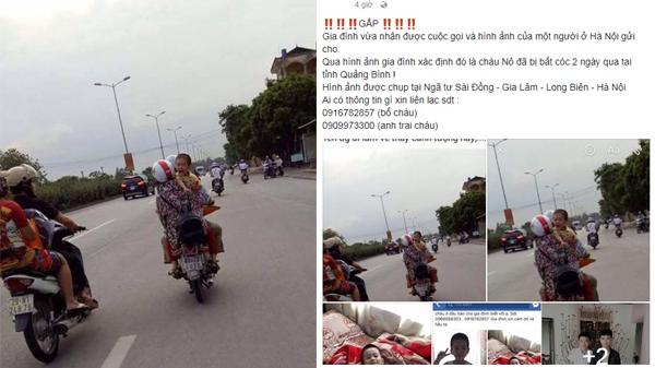 Thực hư việc bé trai mất tích ở Quảng Bình được phát hiện ở Hà Nội