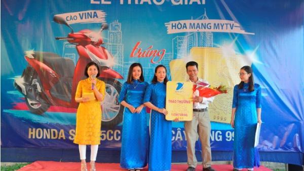 VNPT Quảng Bình trao thưởng xe máy Honda SH và cây vàng 9999 cho khách hàng