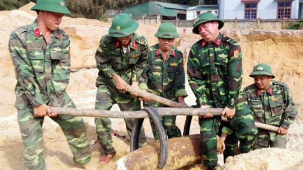 Phát hiện quả bom có nguy cơ gây nổ cao khi thi công công trình ở TP Đồng Hới, Quảng Bình