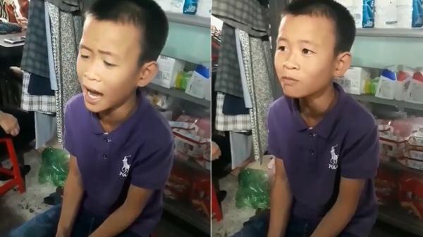 """Clip: Cậu bé Quảng Bình hát """"Mưa chiều miền Trung"""" gây """"bão"""" mạng"""