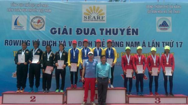 Vận động viên Quảng Bình giành được 1 HCV, 1 HCB tại Giải Đua thuyền Rowing Vô địch và Vô địch trẻ Đông Nam Á năm 2017