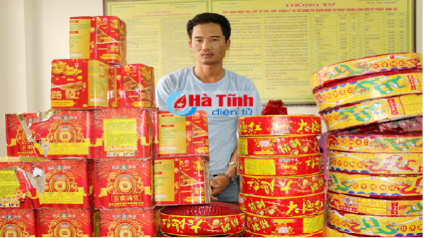 Vận chuyển gần 60kg pháo từ Quảng Bình sang Hà Tĩnh tiêu thụ