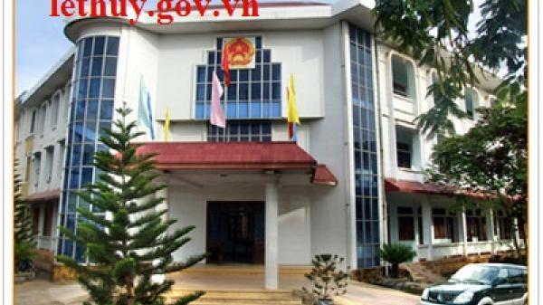 UBND huyện Lệ Thủy: Thông báo tuyển dụng công chức cấp xã năm 2018