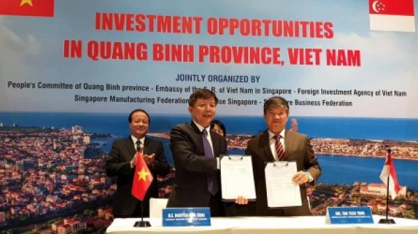Lãnh đạo tỉnh Quảng Bình mời nhà đầu tư Singapore đến  kinh doanh