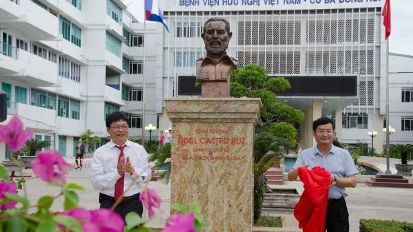 BV hữu nghị Việt Nam - Cuba Đồng Hới khánh thành khu khuôn viên, tượng đài Fidel Castro
