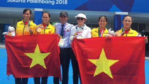 VĐV người Quảng Bình cùng đồng đội giành huy chương vàng rowing tại ASIAD 18