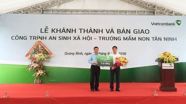 Vietcombank bàn giao trường mầm non 3 tỷ tại Quảng Bình