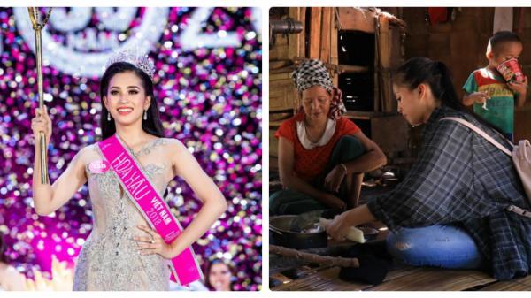Tân Hoa hậu Việt Nam đem nước sạch đến vùng cao Quảng Bình