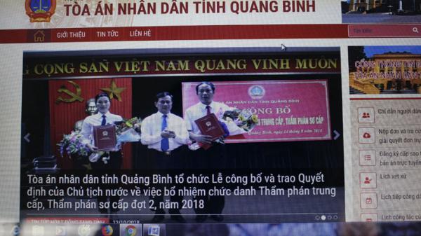 TAND tỉnh Quảng Bình đưa trang thông tin điện tử vào sử dụng