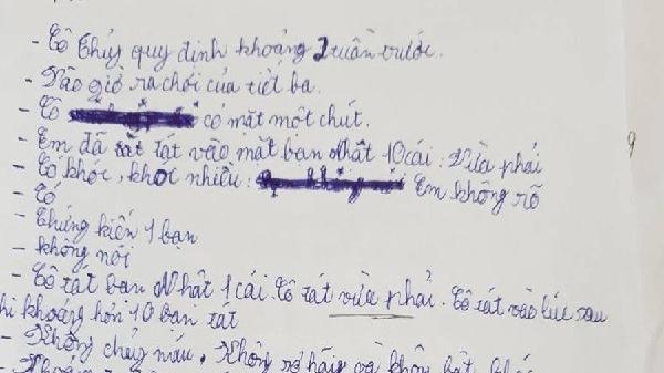 Quảng Bình: Thu hồi toàn bộ 'lời khai' của học sinh về vụ 231 cái tát