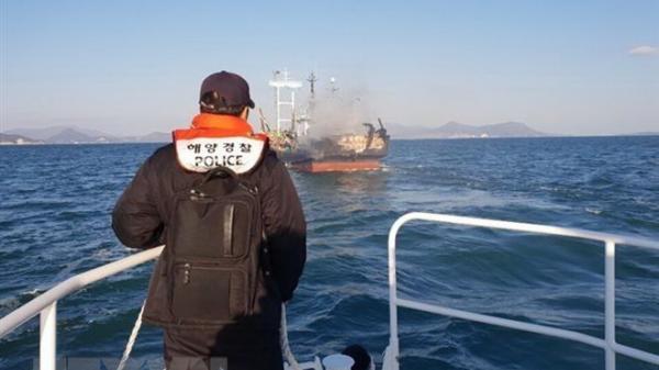 Hỗ trợ thanh toán bảo hiểm cho thuyền viên Quảng Bình t,ử v,ong và bị thương trong vụ cháy tàu cá Hàn Quốc