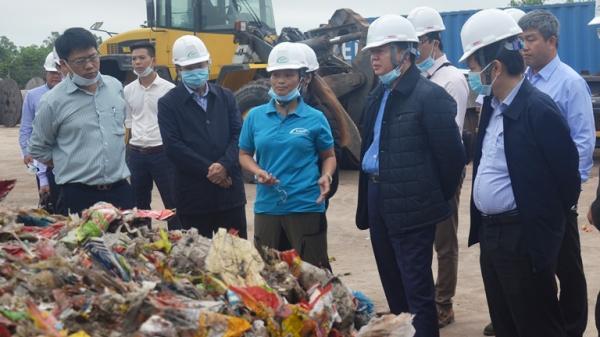 Bộ trưởng Trần Hồng Hà thị sát Nhà máy xử lý rác tại xã Lý Trạch, huyện Bố Trạch, tỉnh Quảng Bình