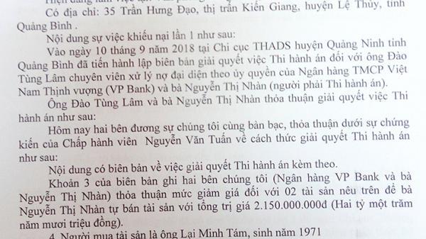 """Quảng Bình: Nộp đủ tiền mua tài sản thi hành án, vẫn """"dài cổ"""" chờ được nhận tài sản!?"""