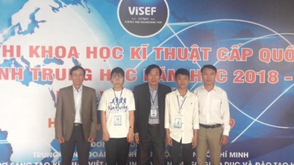 Học sinh Quảng Bình dành giải nhất cuộc thi Khoa học kỹ thuật toàn quốc