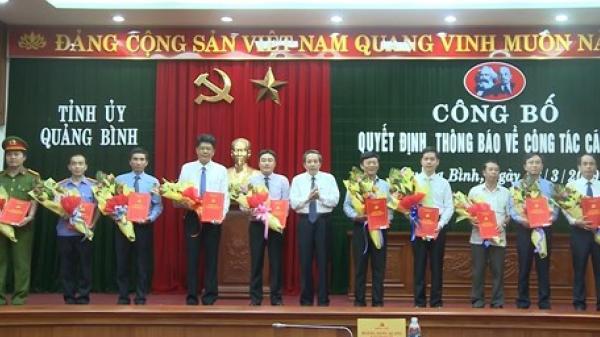 Quảng Bình: Công bố quyết định điều động, bổ nhiệm 10 cán bộ chủ chốt