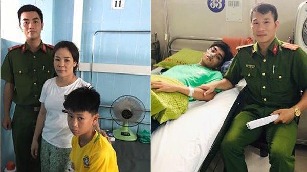 Hai chiến sĩ công an Quảng Bình c ứu mạng 2 nam sinh