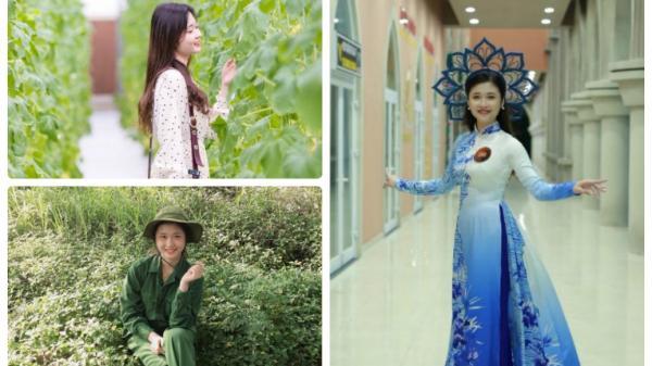 Vẻ đẹp dịu dàng của cô giáo Quảng Bình tương lai gây thương nhớ cộng đồng mạng