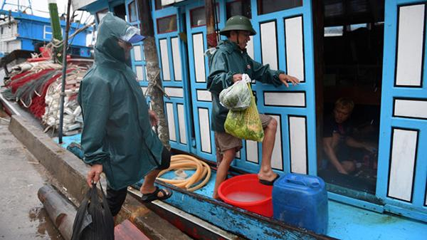Ngư dân bình tĩnh, thảnh thơi đánh cờ, đi chợ chờ cơn bão lớn sắp đổ bộ