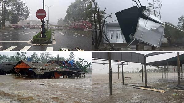 NÓNG: Sức tàn phá khủng khiếp khi bão số 10 đổ bộ vào đất liền các tỉnh miền Trung