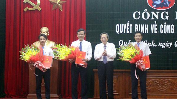 Quảng Bình công bố quyết định nhân sự của Ban Bí thư