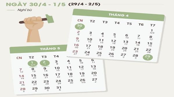 Công chức, viên chức được nghỉ 4 ngày trong dịp lễ 30/4 - 1/5