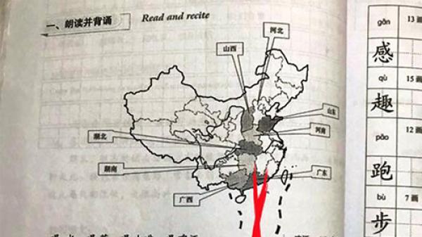 Giáo trình trường đại học có bản đồ ''đường lưỡi bò'