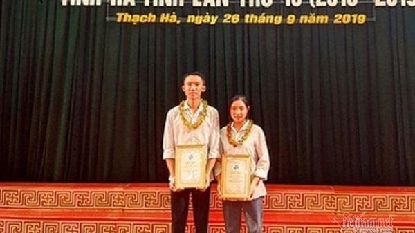 Hai học sinh ở Hà Tĩnh sáng tạo phần mềm vào điểm bằng giọng nói