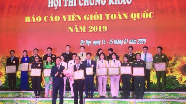 Thí sinh Quảng Bình đoạt giải Nhất hội thi chung khảo báo cáo viên giỏi toàn quốc năm 2019