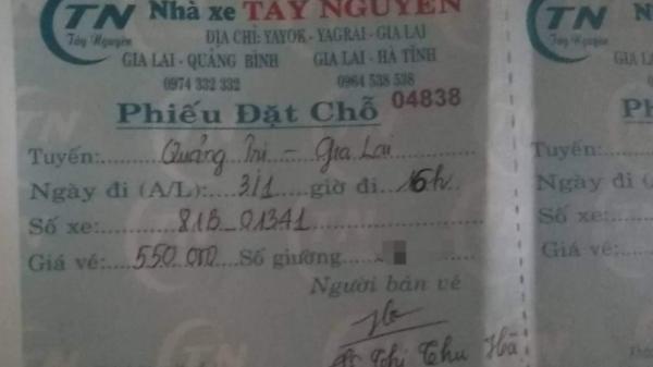 Phát hiện nhà xe tuyến Quảng Bình - Gia Lai thu thêm tiền vé dịp Tết Nguyên đán