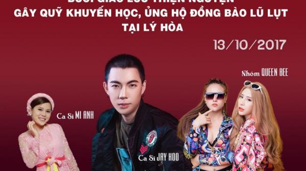 Jay Hoo cùng bạn bè về quê làm đêm nhạc từ thiện