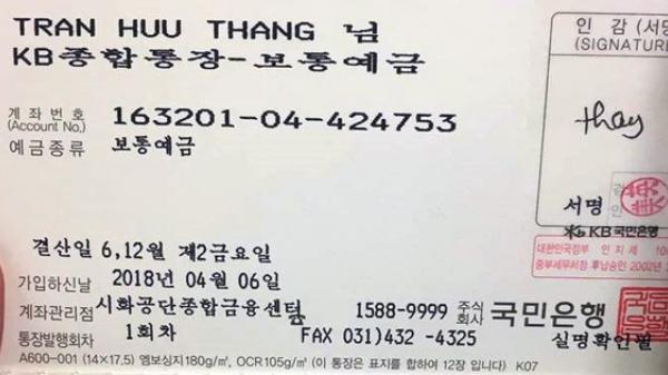 Một lao động Quảng Bình t.ử v.ong tại Hàn Quốc do bị nhồi m.á.u cơ tim