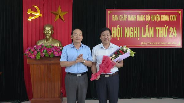 Đồng chí Phan Văn Thanh được bầu giữ chức vụ Phó Bí thư Huyện ủy Quảng Trạch
